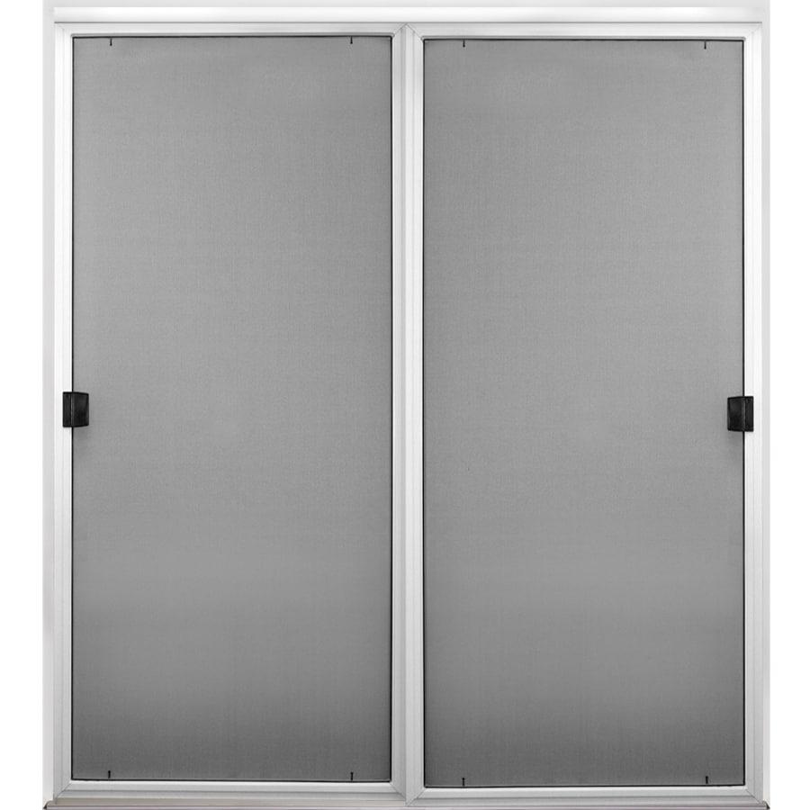 Perfect ReliaBilt Charcoal Mesh Screen Door (Common: 57.125 In X 77 In;