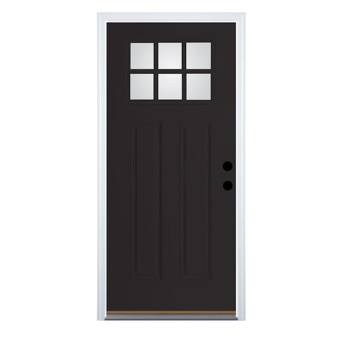 Therma Tru Benchmark Doors 36 In X 80 In Fiberglass Craftsman Left Hand Inswing Black Painted Prehung Single Front Door Brickmould Included In The Front Doors Department At Lowes Com 3,912 lowes exterior doors products are offered for sale by suppliers on alibaba.com, of which doors accounts for 66%, windows accounts for 4%. therma tru benchmark doors 36 in x 80 in fiberglass craftsman left hand inswing black painted prehung single front door brickmould included