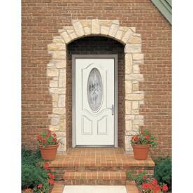 Shop Therma Tru Benchmark Doors Varissa 2 Panel Insulating Core Oval Lite Rig