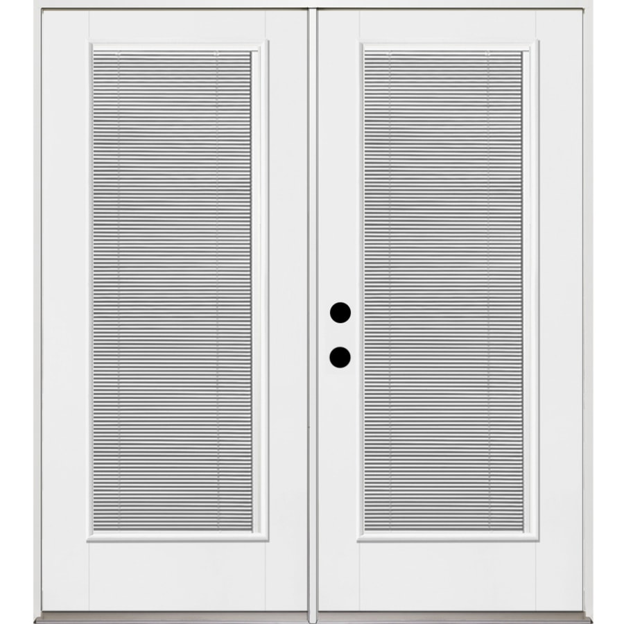 Shop benchmark by therma tru x 79 5 in blinds for Lowes patio doors with built in blinds