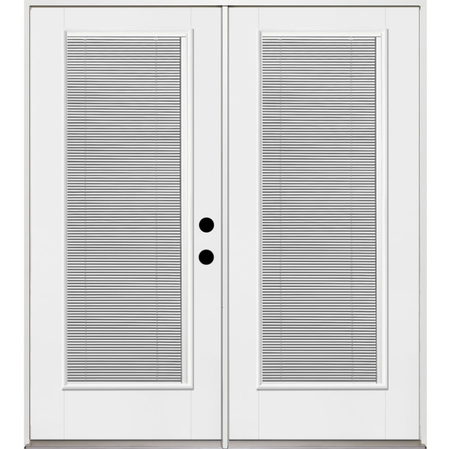 Blinds For French Doors Lowes shop benchmarktherma-tru 70.5625-in blinds between the glass
