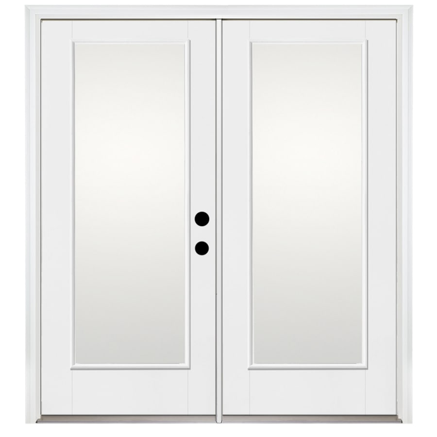 Benchmark by Therma-Tru 70.5625-in x 79.5-in Left-Hand Inswing Fiberglass French Patio Door