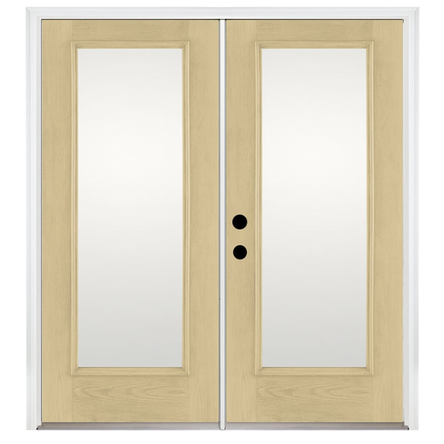 Benchmark by Therma-Tru 70.5625-in x 79.5-in Right-Hand Inswing Fiberglass French Patio Door