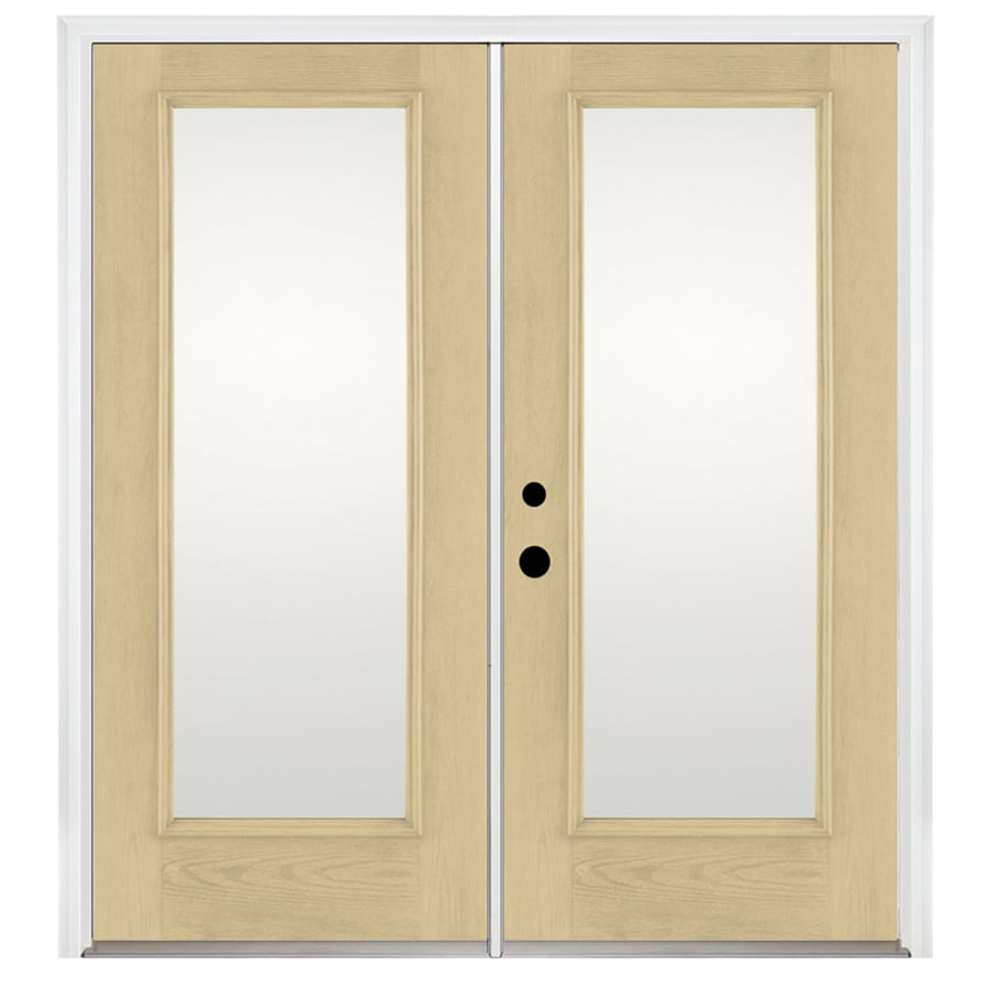 Benchmark by Therma-Tru 70.5625-in 1-Lite Glass Fiberglass French Inswing Patio Door