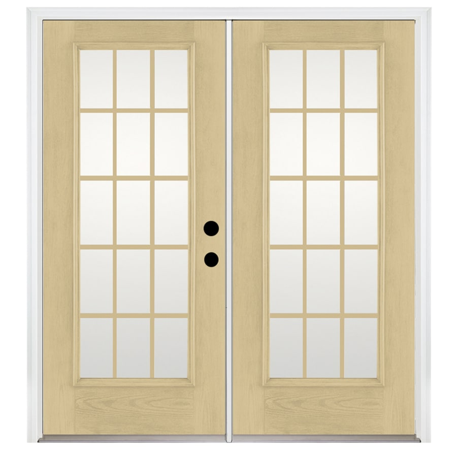 Shop benchmark by therma tru x 79 5 in grilles for Fiberglass patio doors