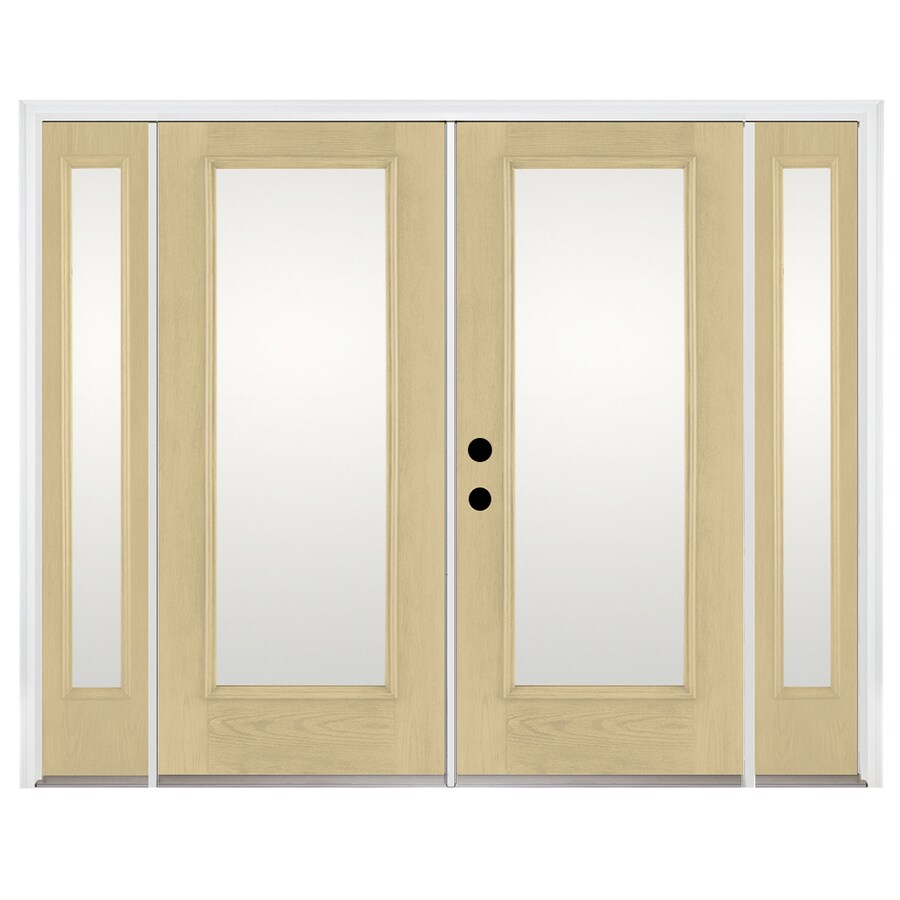 Benchmark by Therma-Tru 93.9375-in x 79.5-in Right-Hand Inswing Fiberglass French Patio Door