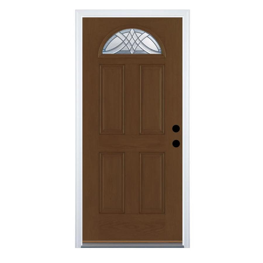 Shop Therma Tru Benchmark Doors Terracourt 4 Panel Insulating Core Fan Lite L
