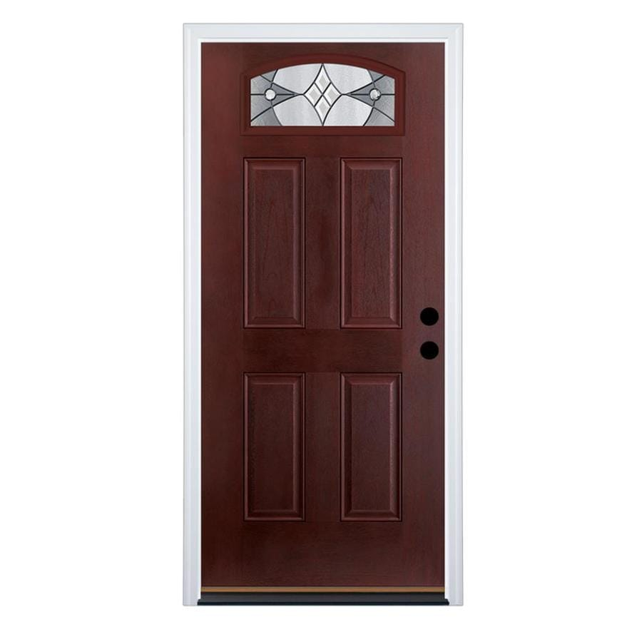 Shop therma tru benchmark doors delano left hand inswing for Mahogany entry doors
