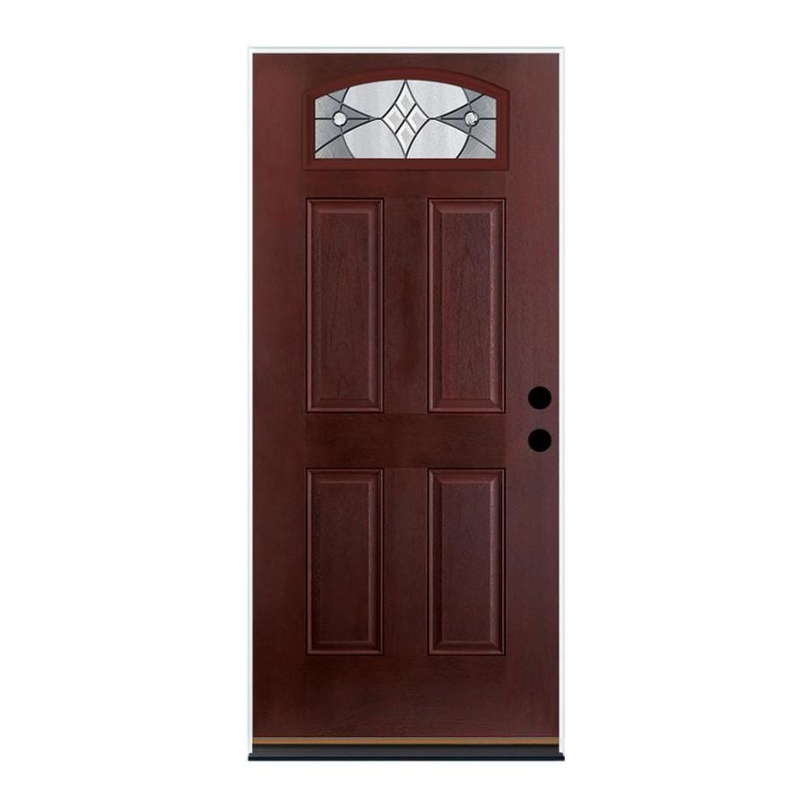 Shop therma tru benchmark doors delano 4 panel insulating for Exterior fiberglass doors