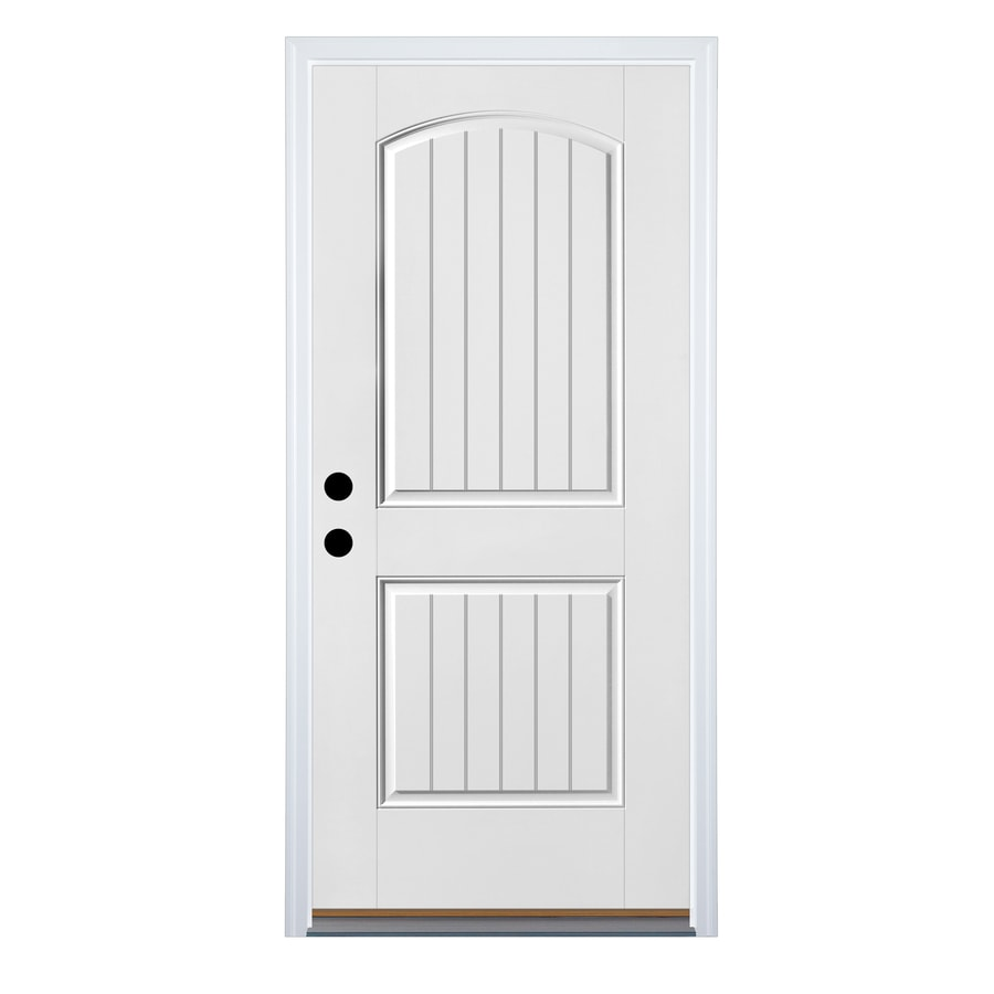 Therma-Tru Benchmark Doors 2-Panel Insulating Core Right-Hand Inswing Fiberglass Unfinished Prehung Entry Door (Common: 36-in x 80-in; Actual: 37.5-in x 81.5-in)