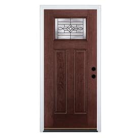 Therma-Tru Benchmark Doors Wickerpark Left-Hand Inswing Dark Mahogany Stained Fiberglass Entry Door  sc 1 st  Loweu0027s & Shop Entry Doors at Lowes.com
