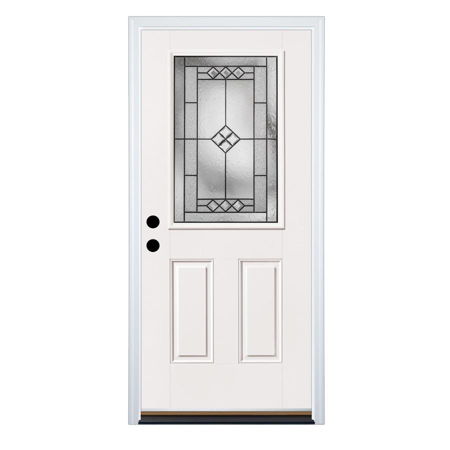 Therma-Tru Benchmark Doors Right-Hand Inswing Fiberglass Entry Door with Insulating Core (Common: 36-in x 80-in; Actual: 37.5-in x 81.5-in)