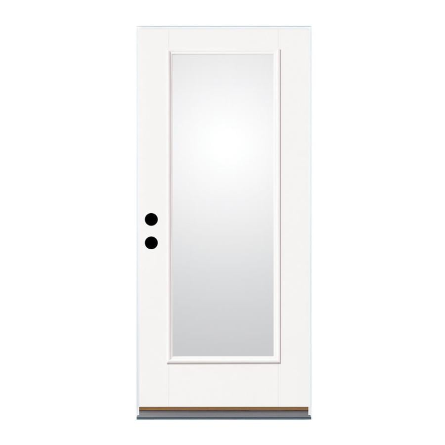 Therma-Tru Benchmark Doors Flush Insulating Core 15-Lite Left-Hand Outswing Fiberglass Unfinished Prehung Entry Door (Common: 36-in x 80-in; Actual: 37.5-in x 80.5-in)