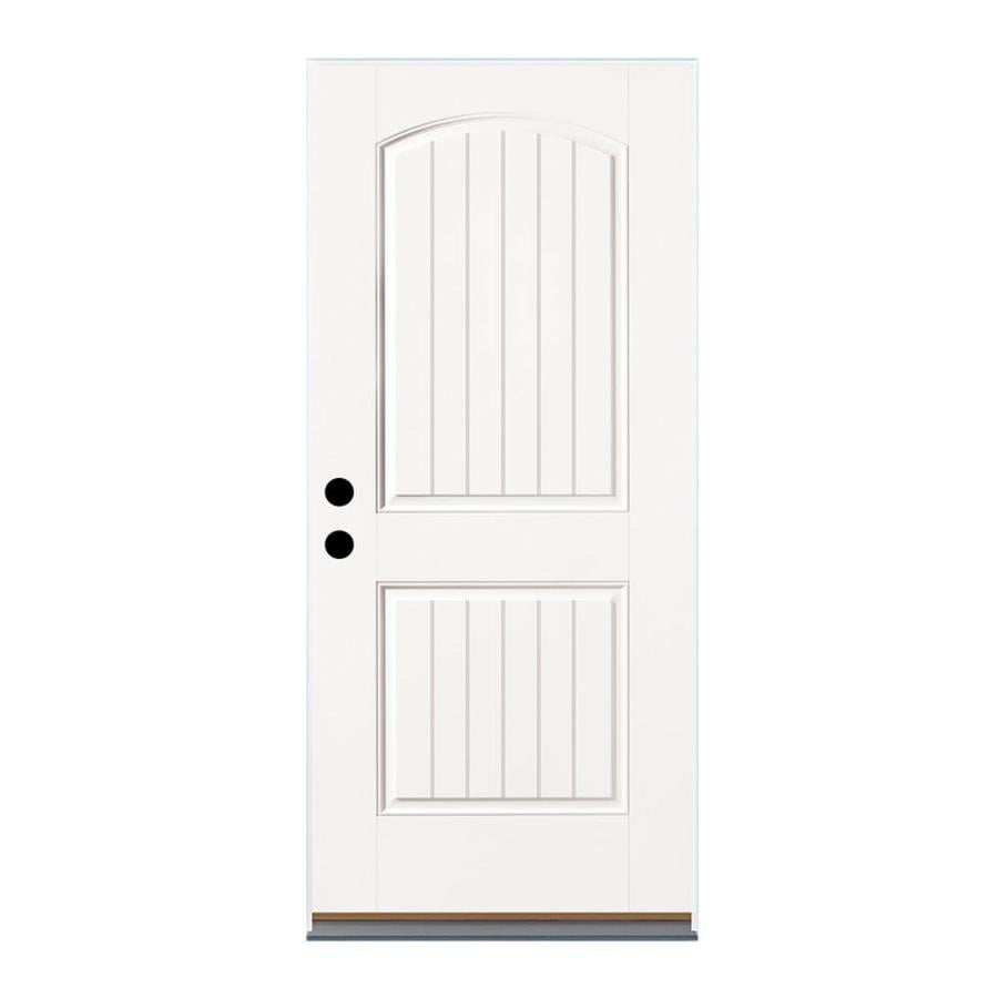 Therma-Tru Benchmark Doors Left-Hand Outswing Fiberglass Entry Door with Insulating Core (Common: 36-in x 80-in; Actual: 37.5-in x 80.5-in)
