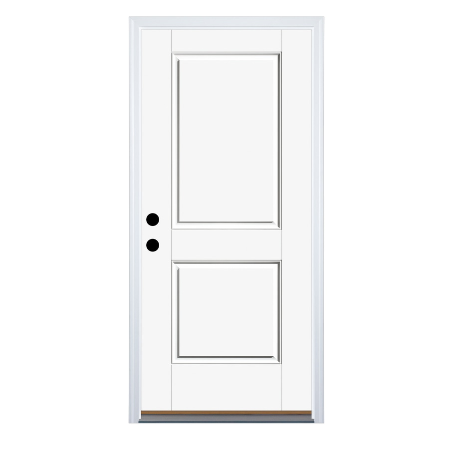 Therma-Tru Benchmark Doors 2-Panel Insulating Core Right-Hand Inswing Ready to Paint Fiberglass Prehung Entry Door (Common: 36.0-in x 80.0-in; Actual: 37.5-in x 81.5-in)