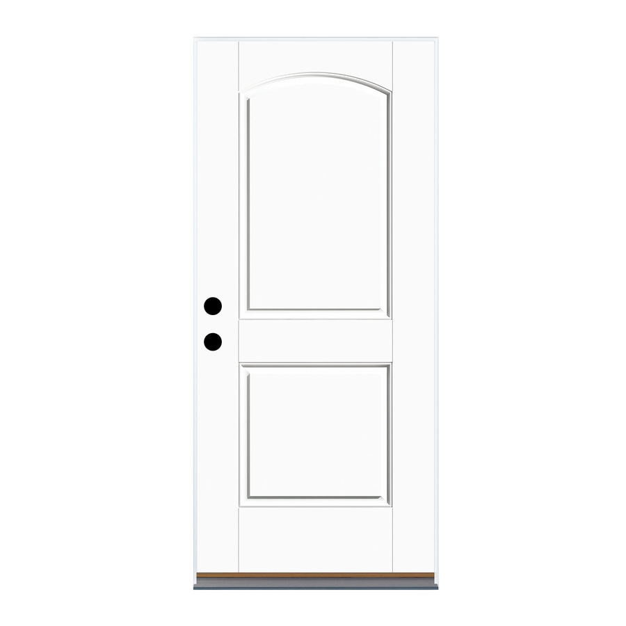 Shop therma tru benchmark doors left hand outswing fiberglass entry door with insulating core 36 x 80 outswing exterior door