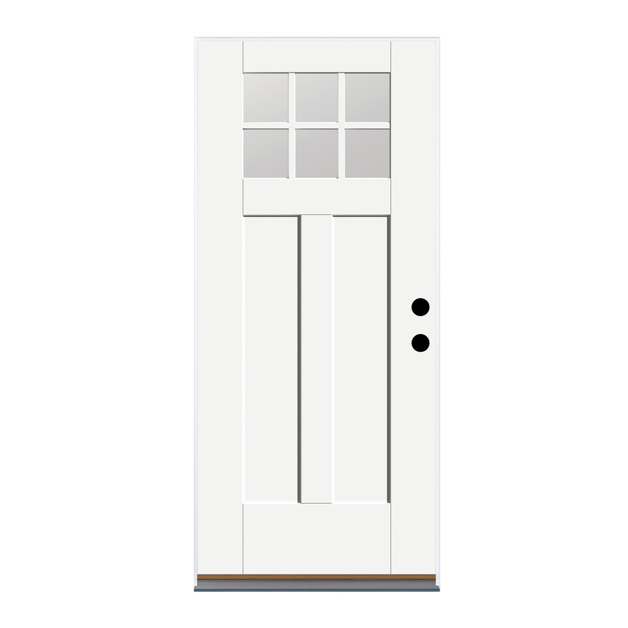 Therma Tru Benchmark Doors Left Hand Inswing Fiberglass Entry Door With  Insulating Core (
