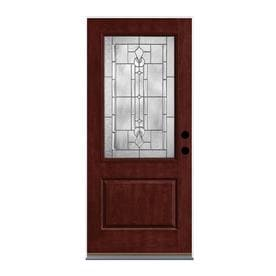 Therma-Tru Lucerna 2/3 Lite Decorative Glass Right-Hand Outswing Mulberry Stained