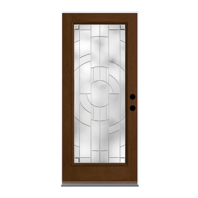Therma Tru Zaha 36 In X 80 In Fiberglass Full Lite Right Hand Outswing New Earth Stained Prehung Single Front Door In The Front Doors Department At Lowes Com Fiberglass entry doors are available in a plethora of finishes including wood grain finishes. therma tru zaha 36 in x 80 in fiberglass full lite right hand outswing new earth stained prehung single front door