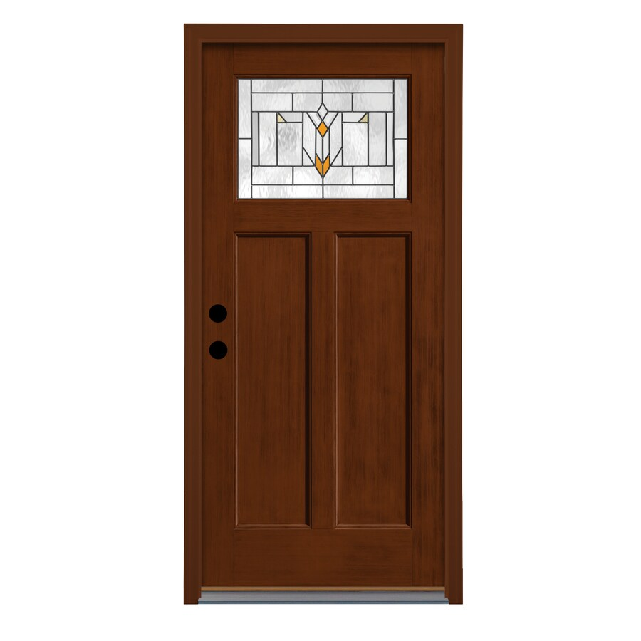 Shop therma tru arborwatch craftsman decorative glass for Decorative glass for entry doors
