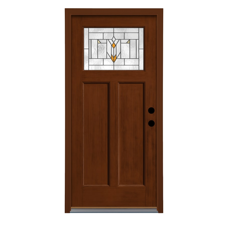 Shop therma tru arborwatch decorative glass right hand for Decorative glass for entry doors