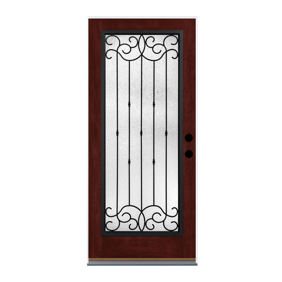 Shop therma tru borrassa decorative glass left hand for Decorative glass for entry doors