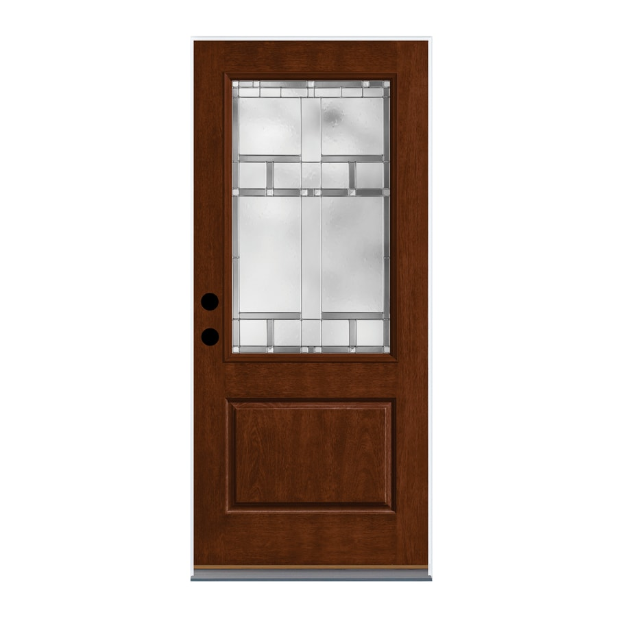 Shop therma tru homeward decorative glass left hand for Decorative glass for entry doors