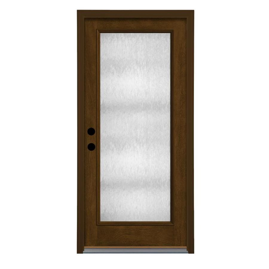 Shop therma tru chord privacy glass left hand outswing barley fiberglass stained entry door 36 x 80 outswing exterior door