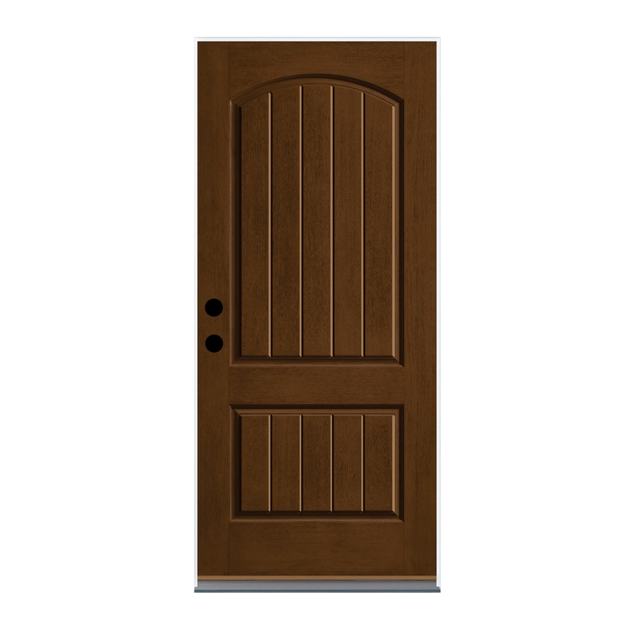 Shop Therma Tru Left Hand Outswing New Earth Fiberglass Stained Entry Door Common 36 In X 80