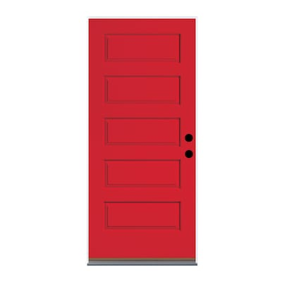 Therma Tru Red Front Doors At Lowes Com 3068 rh halfview texas star w/ yellow zinc hinges. therma tru red front doors at lowes com