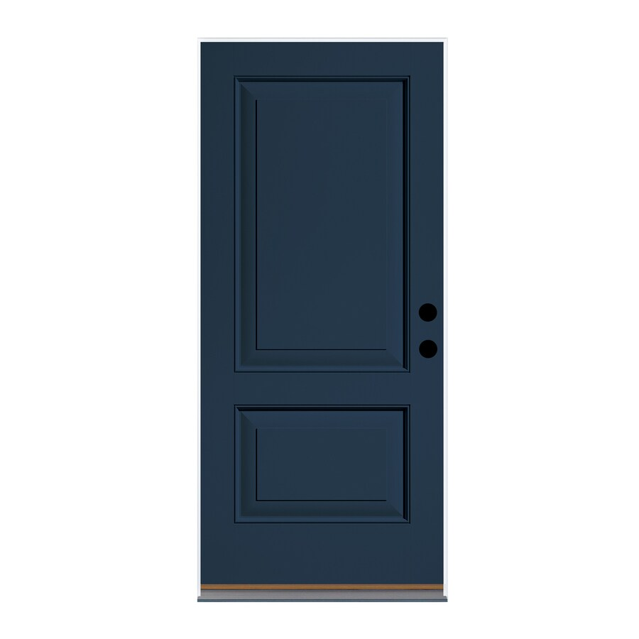 Therma Tru Left Hand Inswing Indigo Painted Fibergl Pre Hung Entry Door With