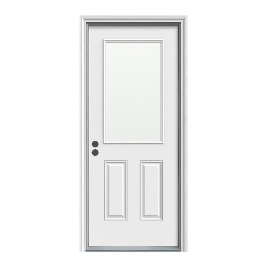 Therma Tru Benchmark Doors Half Lite Clear Glass Right