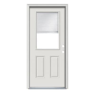 Therma-Tru Benchmark Doors Half Lite Blinds Between The