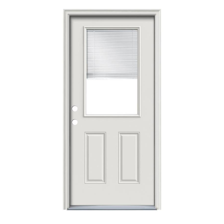 Therma Tru Benchmark Doors Half Lite Blinds Between The