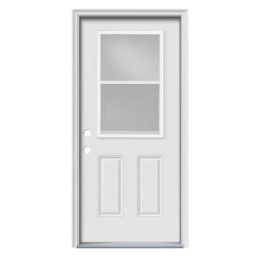 Therma-Tru Benchmark Doors Half Lite Clear Glass Right