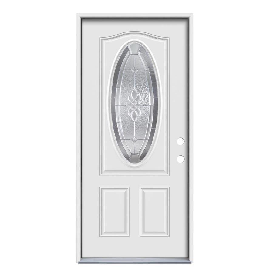 Lowes Exterior Doors: Therma-Tru Benchmark Doors Hampton Oval Lite Decorative