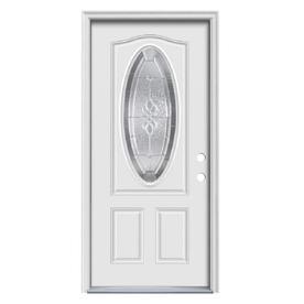 Therma Tru Benchmark Doors Hampton Oval Lite Decorative Gl Left Hand Inswing Ready To