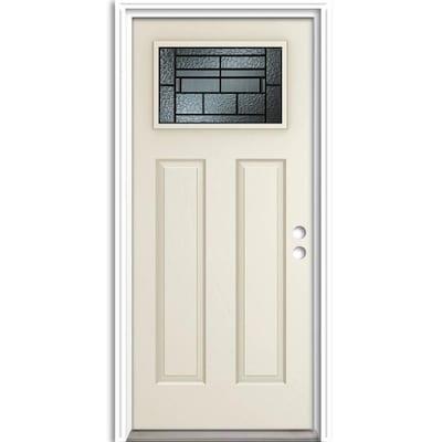 Therma Tru Benchmark Doors Pembrook Craftsman Decorative Glass