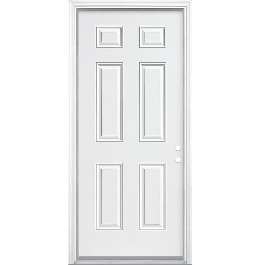 Therma Tru Benchmark Doors Left Hand Inswing Ready To Paint Steel