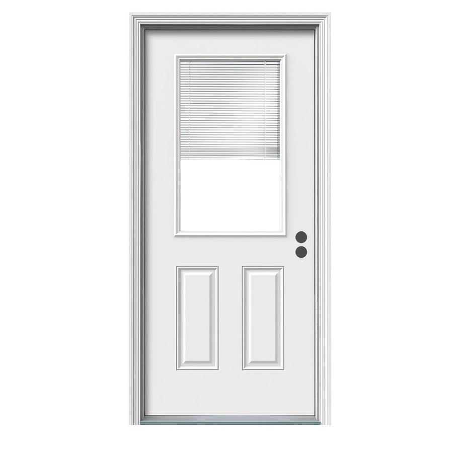 Shop therma tru benchmark doors half lite blinds between the glass therma tru benchmark doors half lite blinds between the glass left hand inswing ready eventshaper