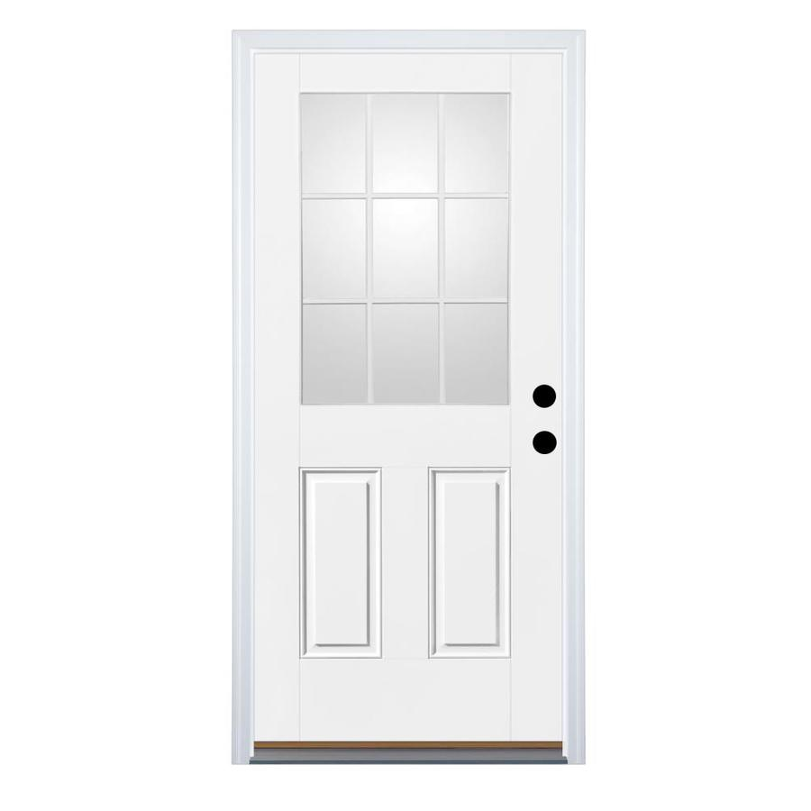Shop Therma Tru Benchmark Doors Half Lite Simulated Divided Light