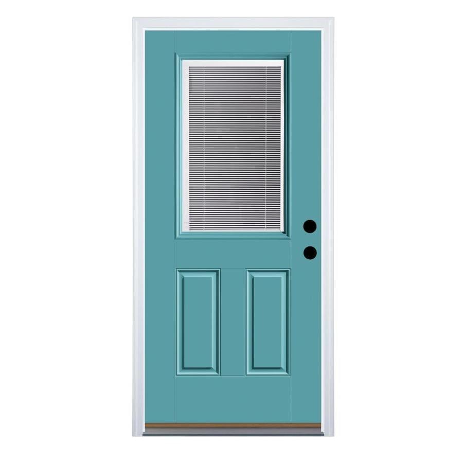 Therma Tru Benchmark Doors Half Lite Blinds Between The Glass Left