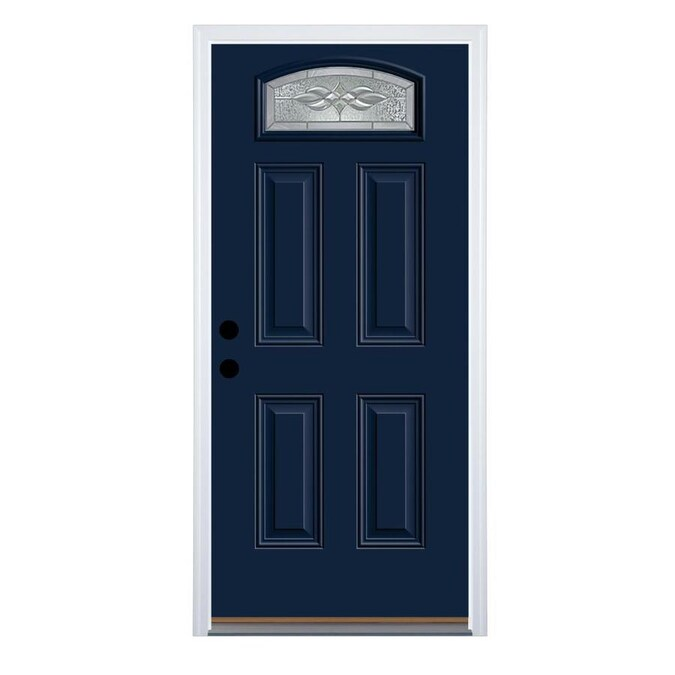 Therma Tru Benchmark Doors Hampton 32 In X 80 In Steel 1 4 Lite Right Hand Inswing Navy Painted Prehung Single Front Door Brickmould Included In The Front Doors Department At Lowes Com Older homes have smaller, odd sized doors. therma tru benchmark doors hampton 32 in x 80 in steel 1 4 lite right hand inswing navy painted prehung single front door brickmould included