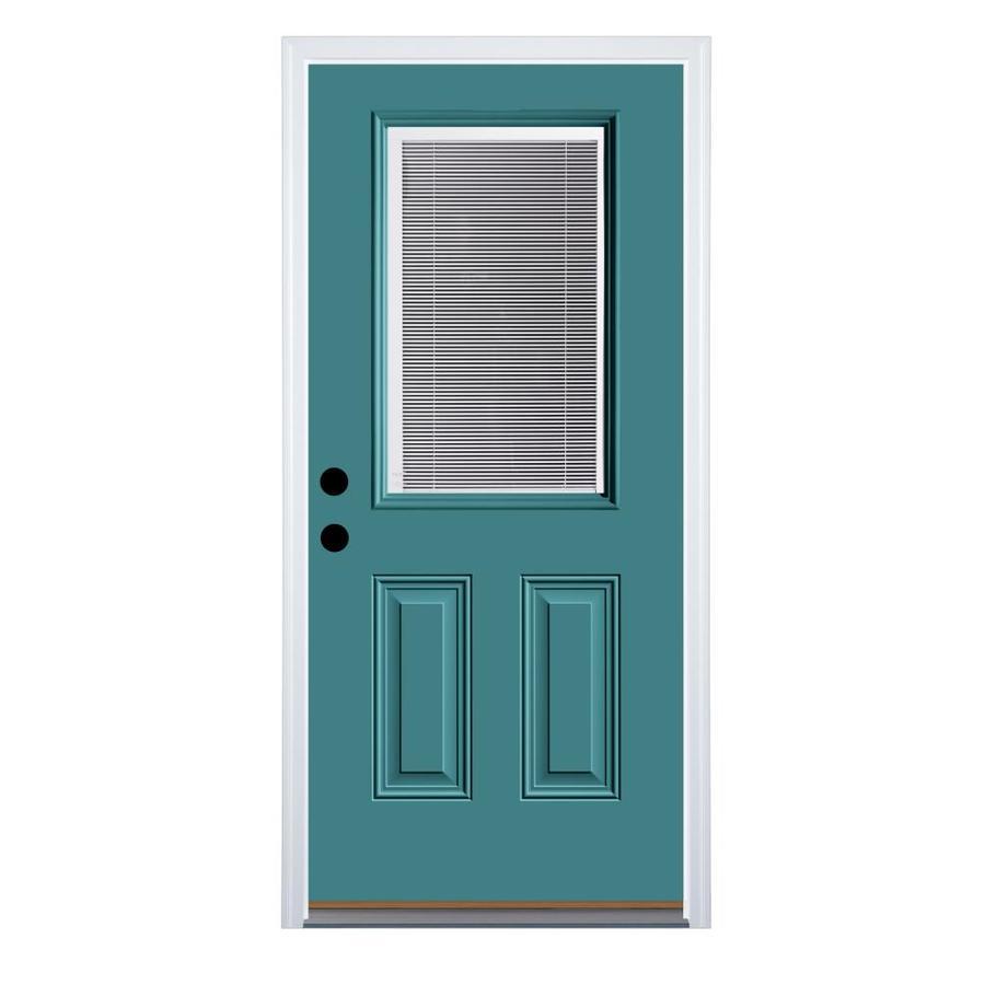 Super Therma Tru Benchmark Doors Half Lite Blinds Between The Door Handles Collection Olytizonderlifede