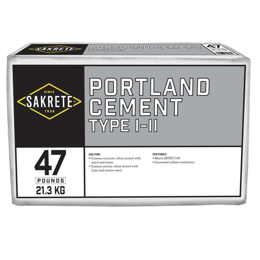 Sakrete Portland 47-lb Gray Type - I/II Cement Mix