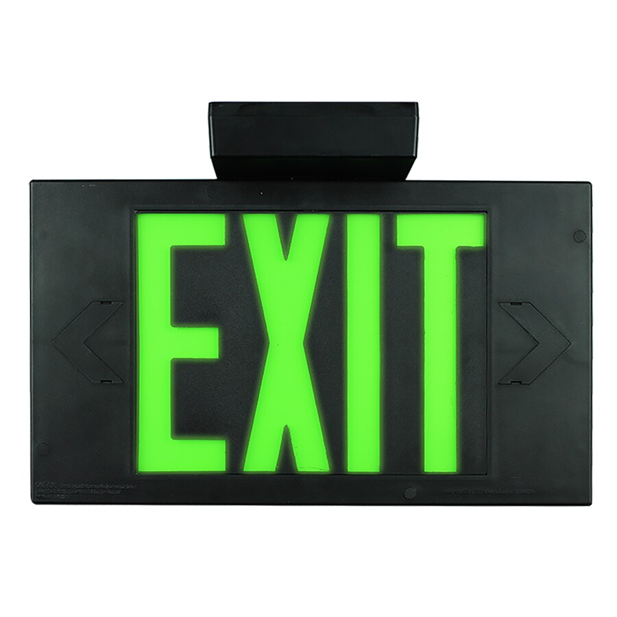 LimeLite Green Electroluminescent Exit Light