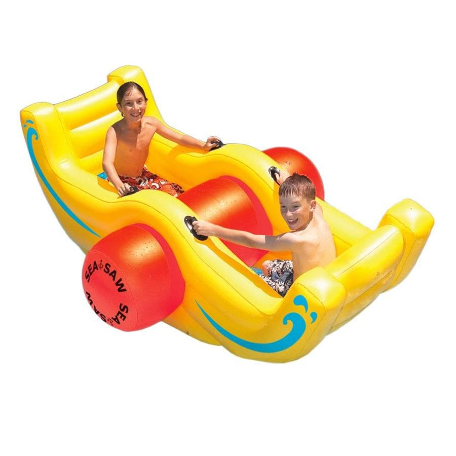 Swimline Sea-Saw Rocker 2-Seat Yellow Inflatable Ride-On