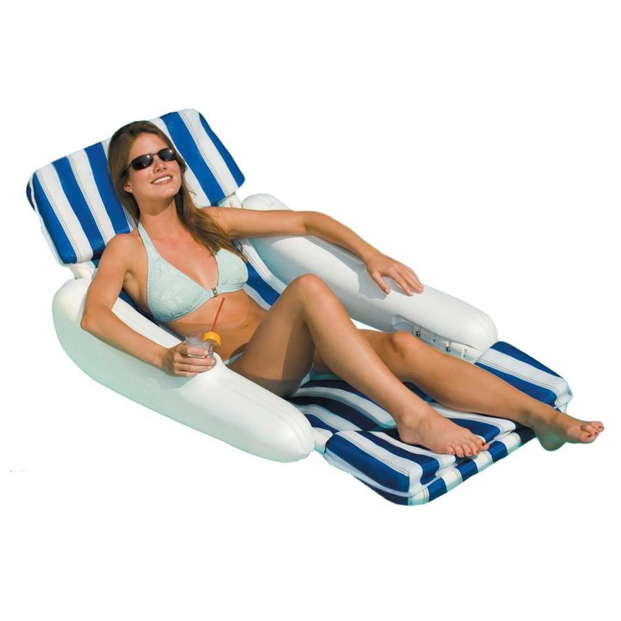 Swimline SunChaser Padded White/Blue Padded Lounger