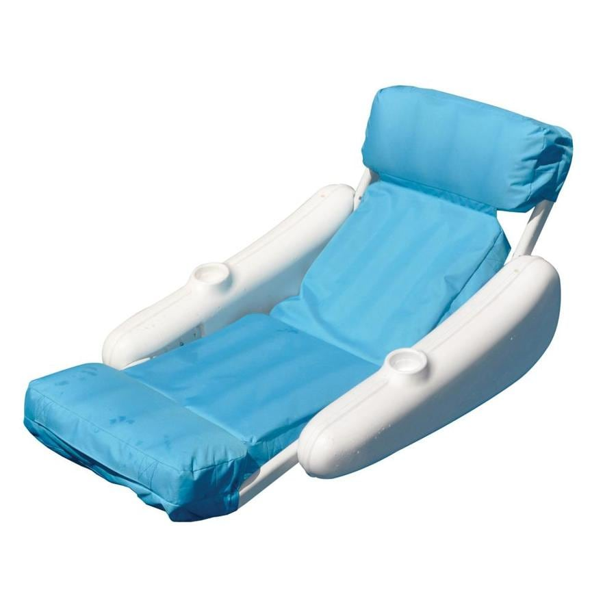 Swimline SunChaser Luxury Blue/White Padded Lounger