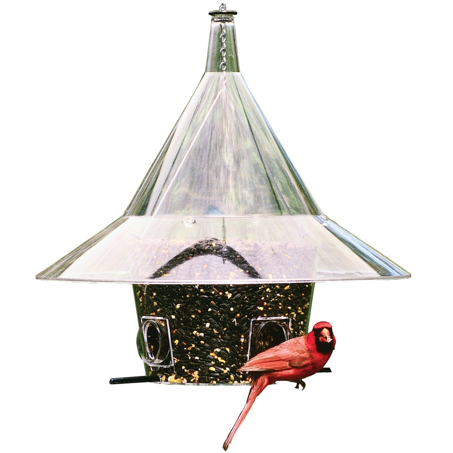 Arundale Products Mandarin Plastic Squirrel Resistant Hopper Bird Feeder In The Bird Feeders Department At Lowes Com